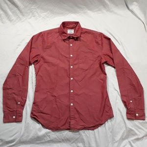 Express Mens Red Causal Button down Size Small